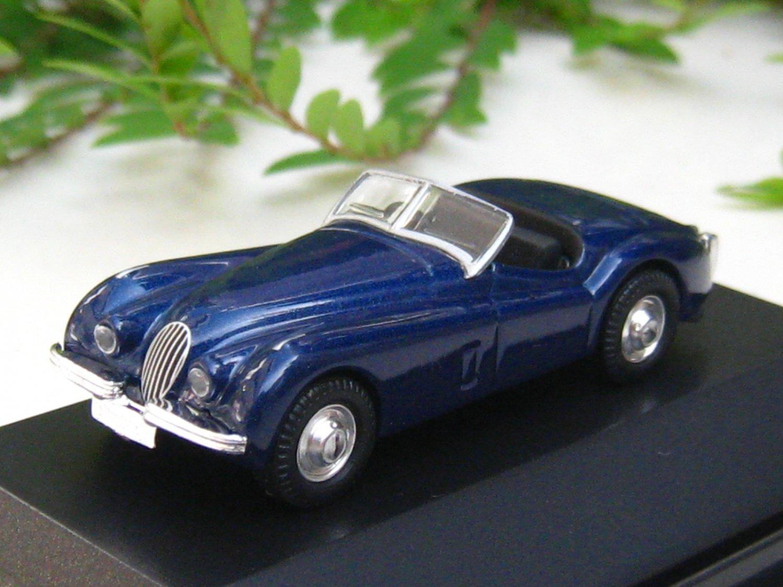 High Speed 1/87 Diecast  Model Car 1953 Jaguar XK 120 (DARK BLUE)5cm