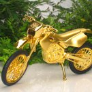 Table Lighter Scrambler Motorcycle Bike Shape GOLDEN