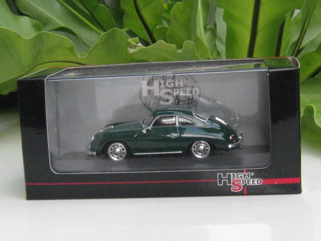 High Speed 1/43 Diecast  Model Car Porsche 356A Carrera Coupe 1959 Green Classic Car