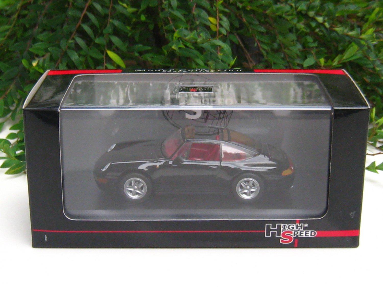 High Speed 1/43 Diecast  Model Car Porsche 911 Carrera Targa 1995 Black