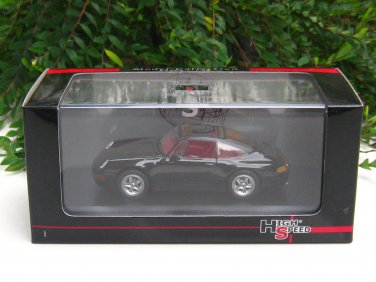 High Speed 1/43 Diecast  Model Car Porsche 911 Carrera Targa 1995 Black