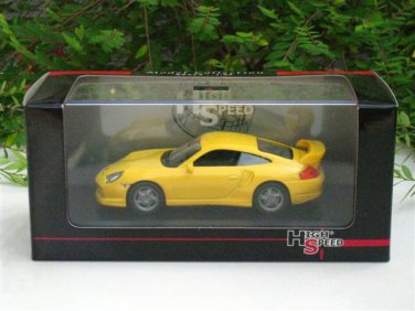 High Speed 1/43 Diecast  Model Car Porsche 911 GT2 2000 YELLOW