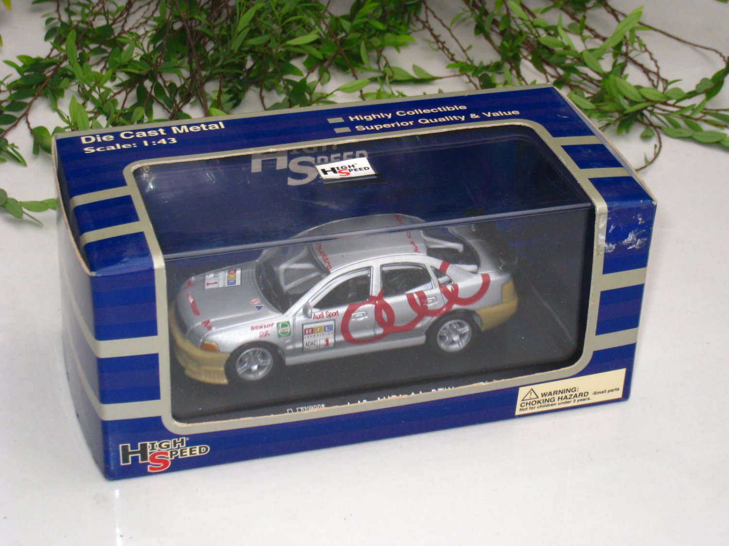 High Speed 1/43 Diecast  Model Car Audi A4 STW Super Touring # 1