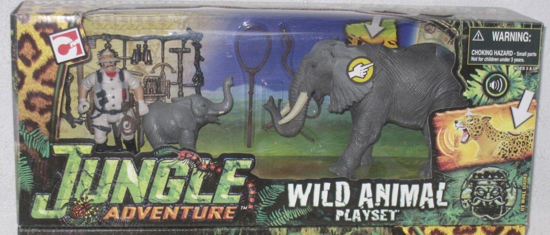 Chap Mei -  Jungle Adventure - Wild Animal Playset  (Elephant)