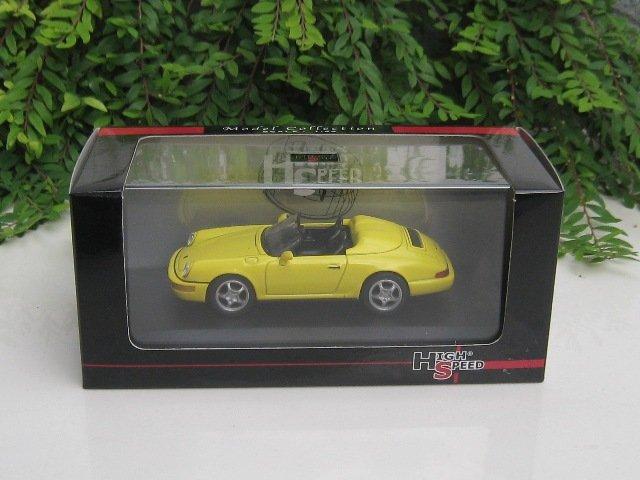 High Speed 1/43 Diecast  Model Car Porsche 964 Speedster 1993 YELLOW