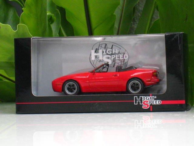 High Speed 1/43 Diecast  Model Car Porsche 944 S Cabrio 1989 RED