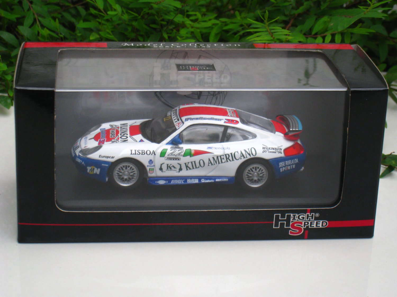 High Speed 1/43 Diecast  Model Car Porsche 911 GT3 Cup Wilkinson Sword - Pedro Couceiro #22
