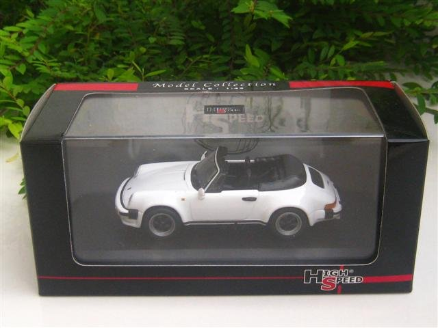 High Speed 1/43 Diecast  Model Car Porsche 911 SC Cabrio 3.0 1983 WHITE