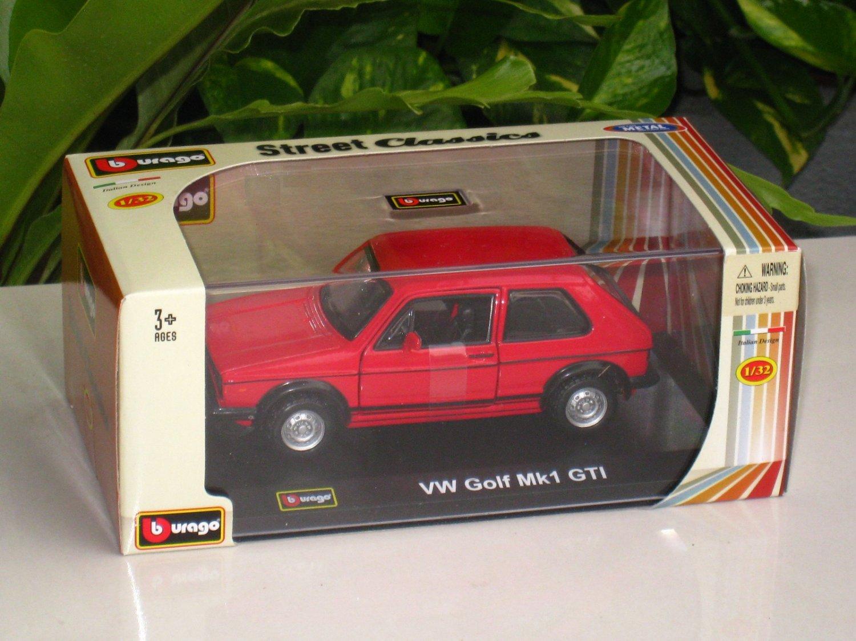 Bburago 1/32 Die cast Model VW Golf MK1 GTi RED