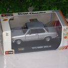 Bburago 1/32 Diecast Model Car 1972 BMW 2002 tii Coupe Classic Car (Silver)