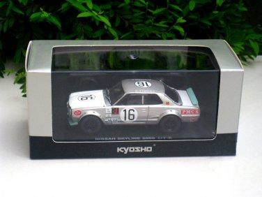 Kyosho 1/43 Diecast Nissan Skyline 2000 GTR Racing (KPGC10) 1972 Fuji 300KM #16