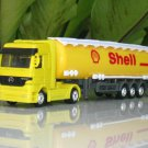 Welly 1/87 Diecast Car Model Mercedes Benz Actros Trucks SHELL OIL Tanker TRUCKS