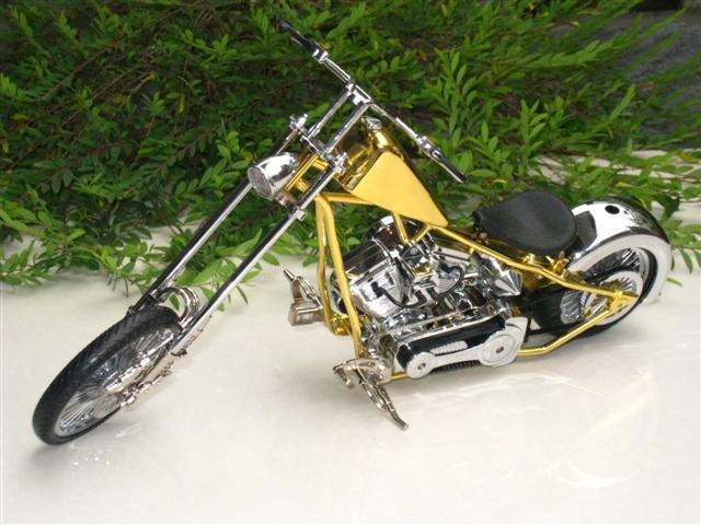 Table Lighter GLBIRD Jet Flame 1/9 Harley Motorcycle Bike Shape GOLD
