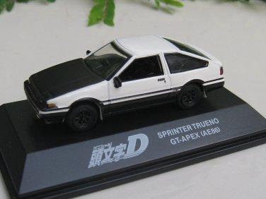 Yodel 1/72 Diecast Car Model INITIAL D TOYOTA Sprinter Trueno GT-Apex (AE86) - Upgrade Verion