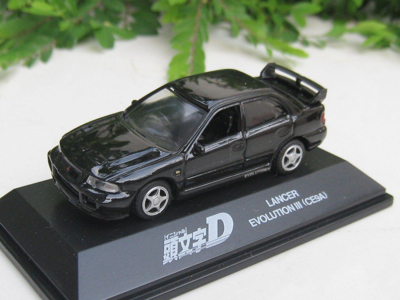 Yodel 1/72 Diecast Car Model INITIAL D Mitsubishi Lancer Evolution III CE9A Evo BLACK