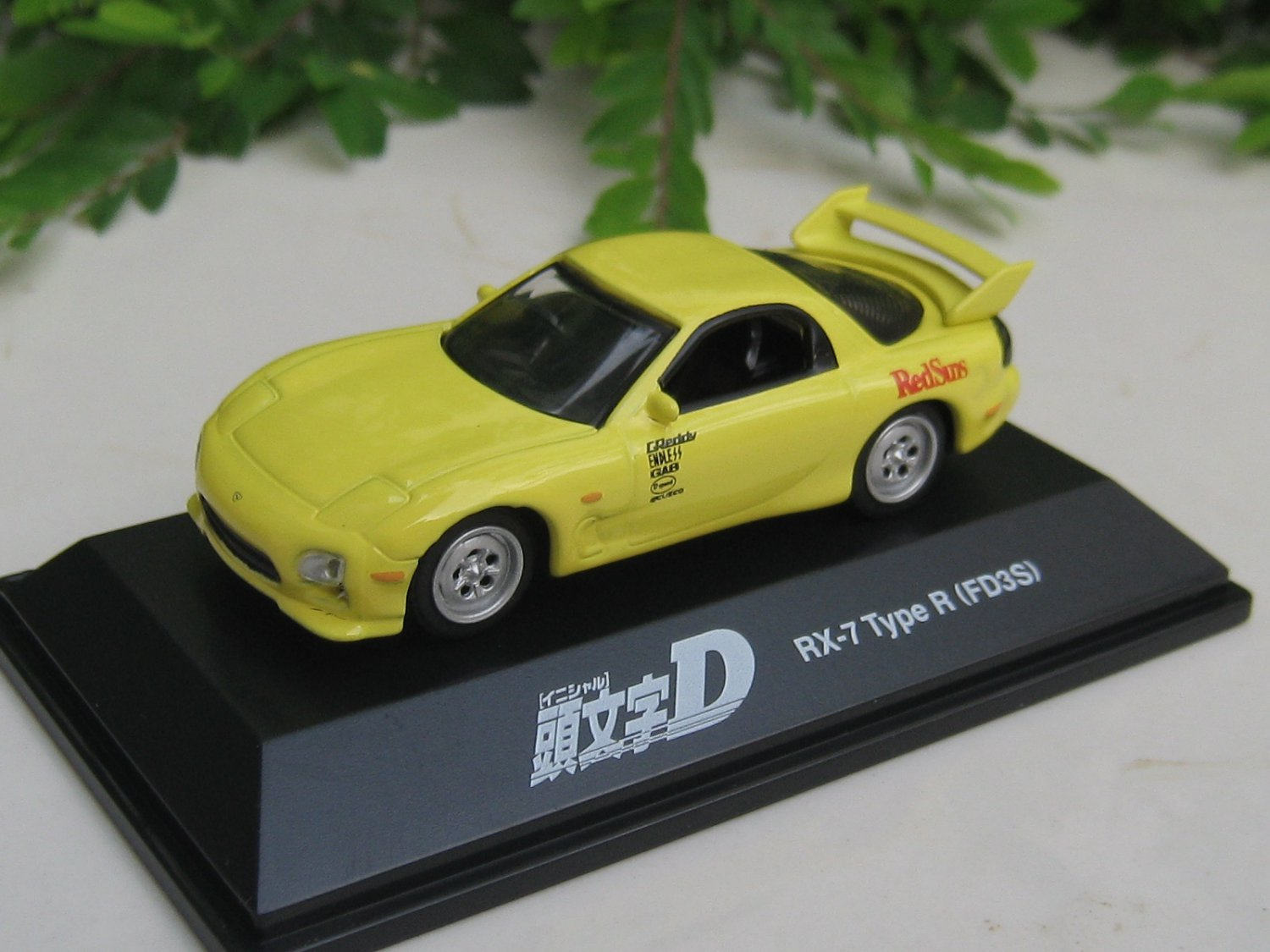 Yodel 1/72 Diecast Car Model INITIAL D Mazda RX-7 Type R FD3S YELLOW