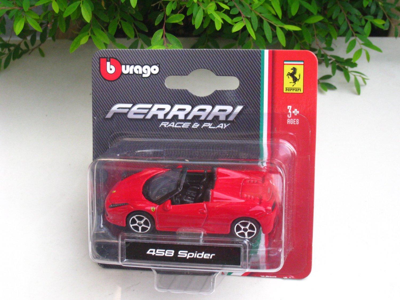 Bburago 1/64 Diecast Car Model Ferrari 458 Spider Mini car