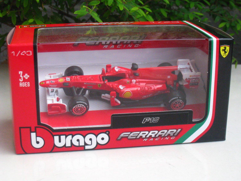 bburago 1 43 diecast car model ferrari f10 formula 1 f1 racing. Black Bedroom Furniture Sets. Home Design Ideas