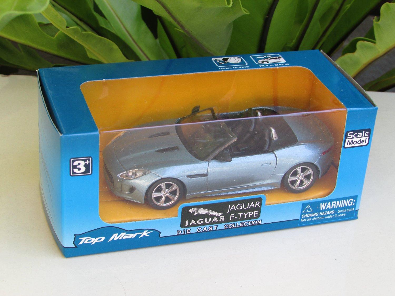 "Top Mark 1-35( 5"") Diecast  Model Car Jaguar F Type 2014 ( BLUE)"