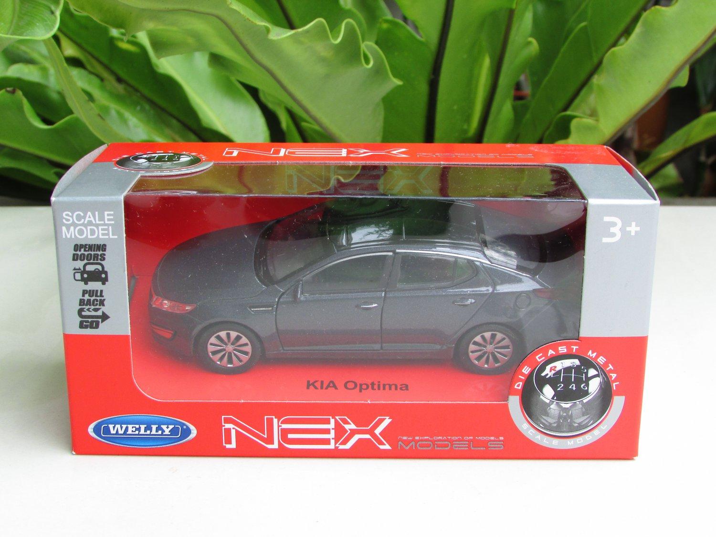 Welly NEX 1/34-1/39 Die cast Car Model Kia Optima K5 Grey 2012 (11cm)