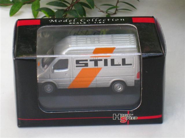 High Speed 1/87 Diecast Model Car Mercedes Benz Sprinter  1999 Van STILL