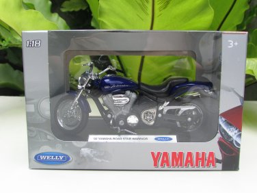 Welly 1/18 Diecast Motorcycle Yamaha Road Star Warrior (2002) (Blue)