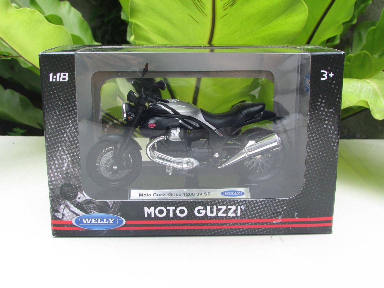 Welly 1/18 Diecast Motorcycle Moto Guzzi Griso 1200 8V SE 2017 (Black)