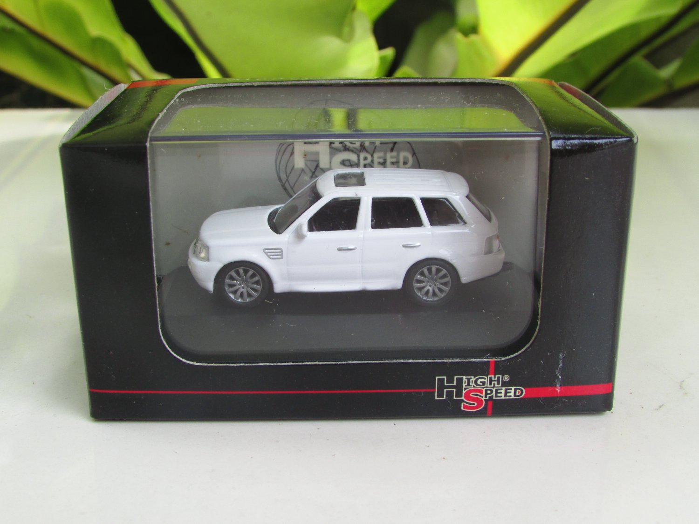 High Speed 1/87 Diecast Model Car Land Rover Range Rover Sport white (5.5cm)