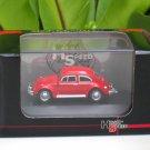 High Speed 1/87 Diecast Model Car VW Volkswagen Kafer Beetle RED