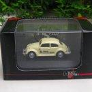 High Speed 1/87 Diecast Model Car VW Volkswagen Kafer Beetle Brau Beviale 2004 Beige