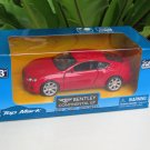 "Top Mark (5"") 1/34  Diecast  Model Car 2015  Bentley Continental GT (Red)"