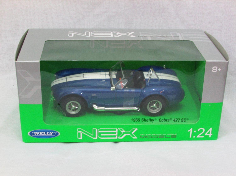Welly 1/24 Diecast Car Model Shelby Cobra 427 SC (1965) BLUE