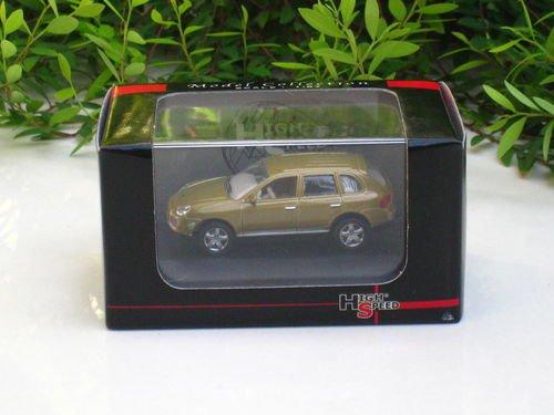 High Speed 1/87 Diecast Model Car Porsche Cayenne Turbo 2008 Gold (5.5cm)
