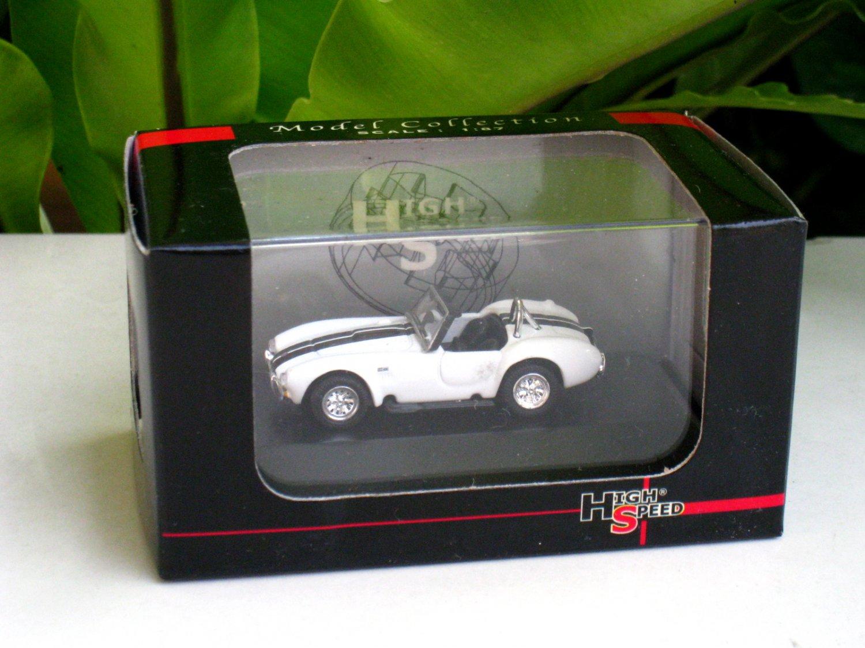 High Speed 1/87 Diecast Model Car  1969 Shelby Cobra 427 S/C (white) 4.5cm