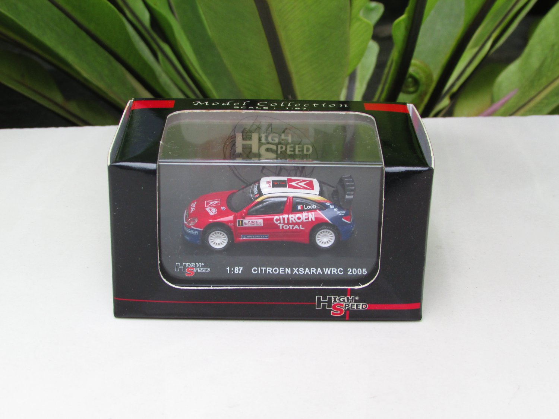 High Speed 1/87 Diecast Car Citroen Xsara WRC 2005 Rally Monte Carlo Winner #1