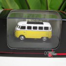 High Speed 1/87 Diecast Car Model  Classic Volkswagen VW Bus T1 Samba Bus  Yellow (5cm)