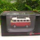 High Speed 1/87 Diecast Car Model  Classic Volkswagen VW Bus T1 Samba Bus  Red (5cm)