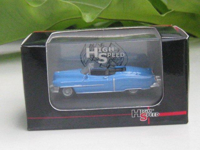 High Speed 1/87 Diecast Car Classic Model Cadillac Eldorado 1953 (Blue) 5.5cm