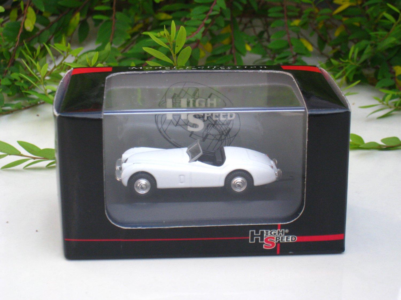 High Speed 1/87 Diecast Model Car 1953 JAGUAR XK 120 Cabriolet Car (WHITE) 5cm