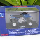 NewRay 1/32 Diecast Model Motorcycle Yamaha Warrior 350 ATV (Blue)