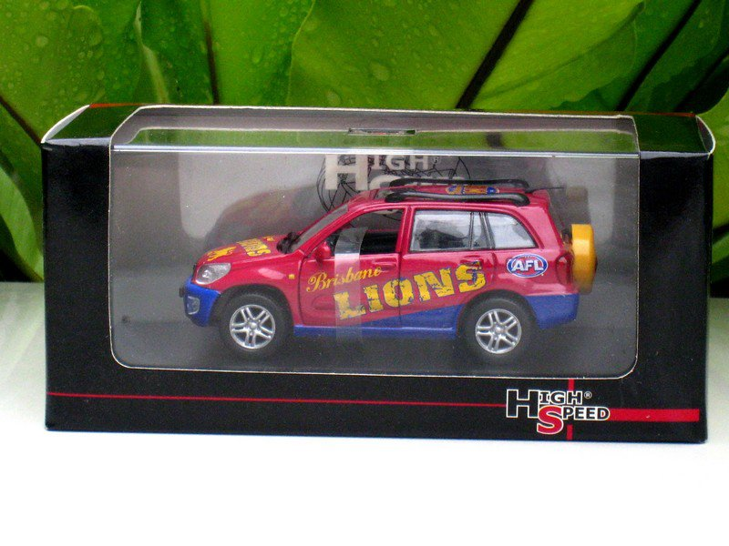 High Speed 1/43 Diecast Car 2005 AFL Football Collectable Club Car Toyota  RAV 4 (Brisbane LIONS)