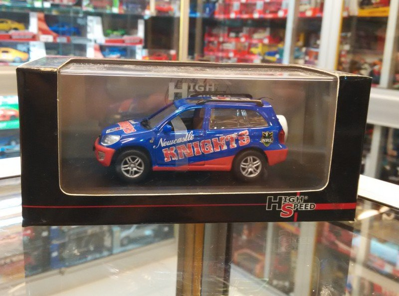 High Speed 1/43 Diecast 2005 AFL Football Collectable Club Car Toyota RAV4 (NEWCASTLE KNIGHTS)