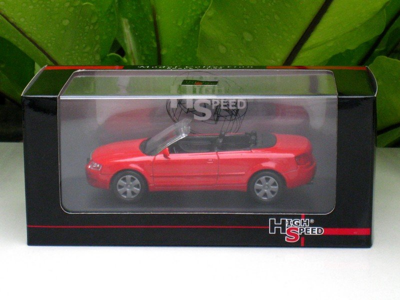 High Speed 1/43 Diecast Model Car Audi A4 Cabrio 2002 (Red)