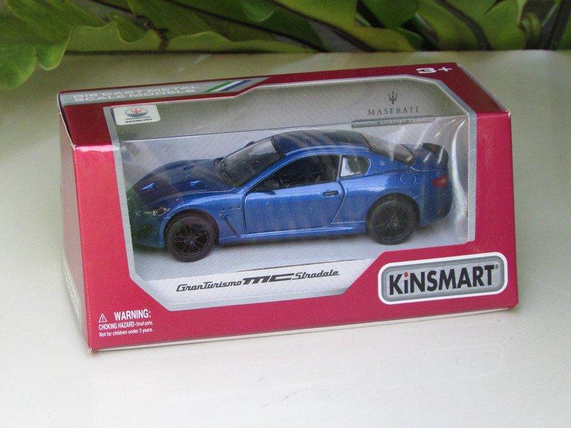 "Kinsmart (5"") Die cast Car 2016 Maserati Granturismo MC Stradale   Blue (1-38) Sports Car"