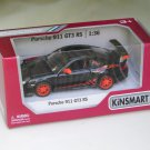 "Kinsmart (5"") Die cast Model Car 2010 Porsche 911 997 GT3 RS Black (1-36) Sports Car"