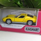 "Kinsmart (5"") Die cast Model Car  1971 Lamborghini Miura P400 SV Yellow (1-34) Sports Car"