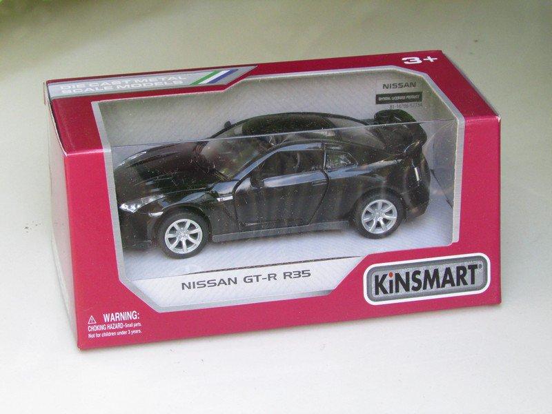 "Kinsmart (5"") Die cast  Car 2009 Nissan GT-R R35 Black (1-36) Sports Car"