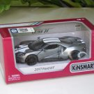 "Kinsmart (5"") Die cast  Model Car 2017 Ford GT Silver (1-38) White Stripe"