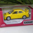"Kinsmart (5"") Die cast  2001 Mitsubishi Lancer Evolution Evo VII Yellow  (1-36)"