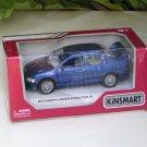"""Kinsmart (5"""") Die cast  2001 Mitsubishi Lancer Evolution Evo VII Blue  (1-36)"""